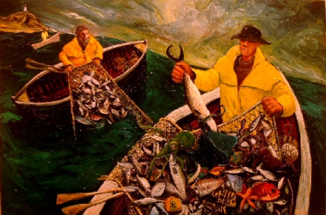 three fishers oil painting stephen james artist australia