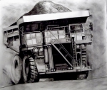 """Bloody Big Truck"" drawing artist stephen james australia"