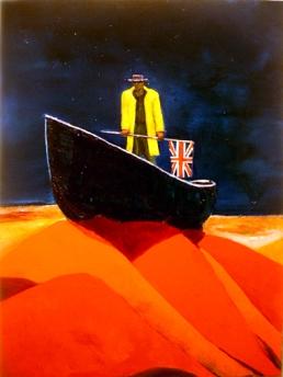 Britania rules the waves oil painting stephen james artist australia 2006