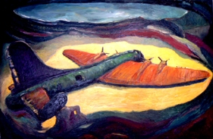 """""""Fortress in the Sea"""" oil on canvas 100cmx60cm"""