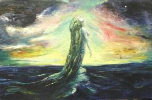 """""""Mermaid"""" Oil on canvas 90cmx60cm"""